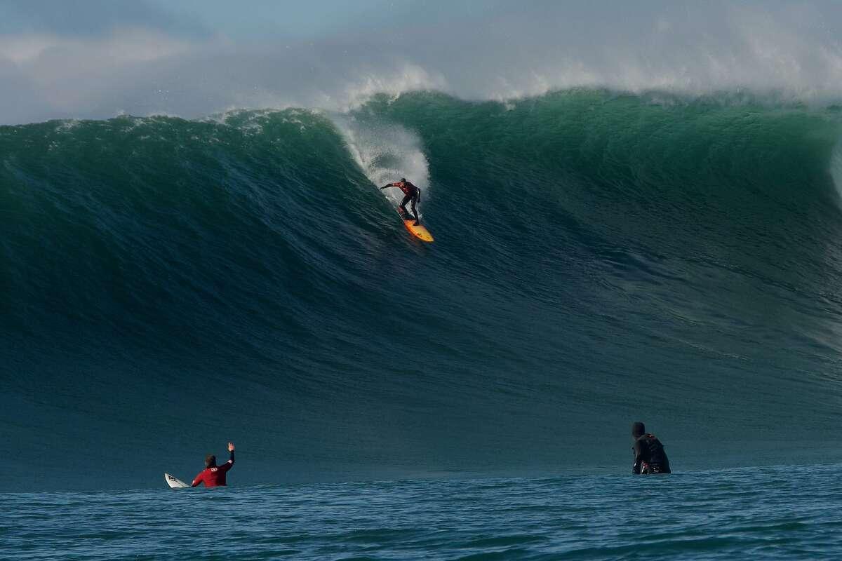 At the age of 51, Santa Cruz surfer Peter Mel performed an historic tube ride at Mavericks on Jan. 8, 2021.
