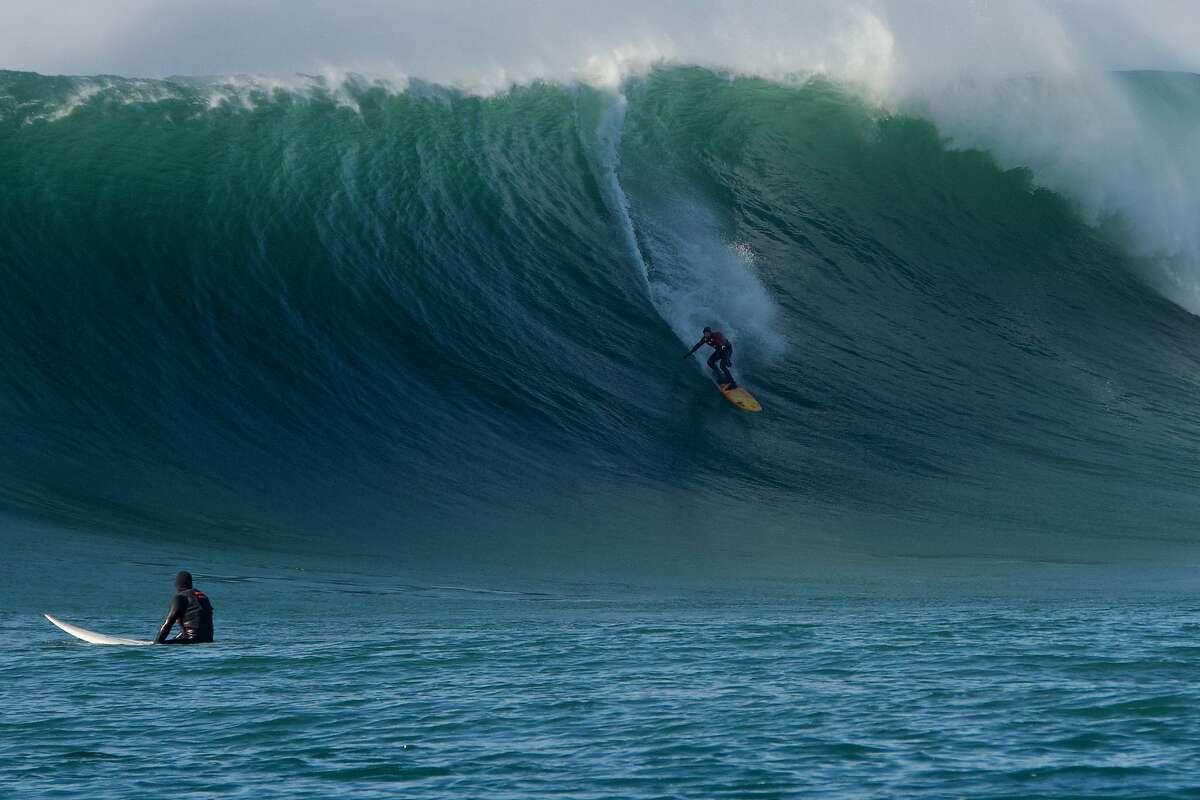 At the age of 51, Santa Cruz surfer Peter Mel performed an historic tube ride at Mavericks on Jan. 8.