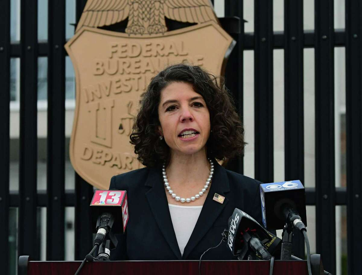 Antoinette Bacon, acting United States attorney for the Northern District of New York, provides updates on last week's violence in Washington, D.C. and discusses security plans for local protests at the FBI Albany Field Office on Thursday, Jan. 14, 2021 in Albany, N.Y. All 50 state capitols have been threatened with armed violence ahead of next week's Presidential inauguration of Joe Biden. (Lori Van Buren/Times Union)