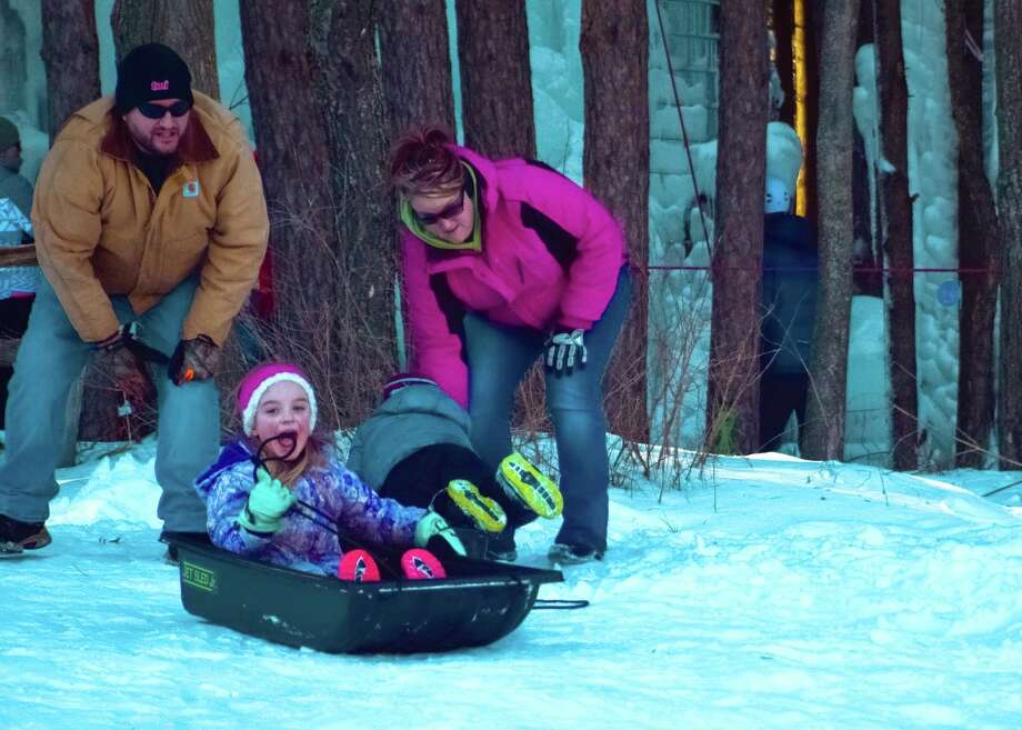 Sledding is one of many activities families can take part in during Winterfest. CranHill Ranch also will be offering snowshoeing, ice skating, ice wall climbing and more. (Courtesy photo)