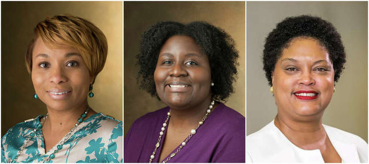 SIUE's finalists for vice chancellor for equity, diversity and inclusion include, from left, Lakesha Butler, Jessica Harris and Debbie Thomas.