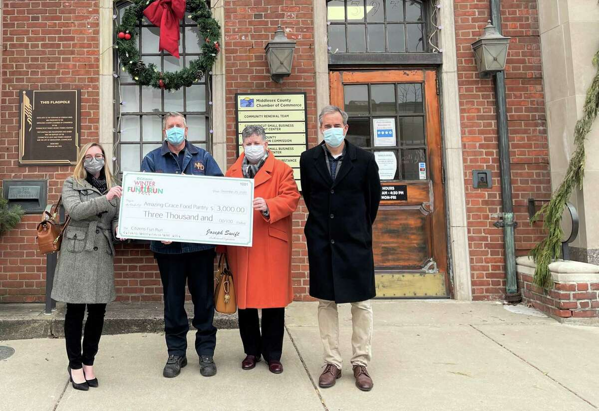 The Citizens Fun Run was held virtually in December. The event raised nearly $7,000 for the Amazing Grace Food Pantry, the Middlesex Chamber of Commerce mentor program and Kiwanis Club.