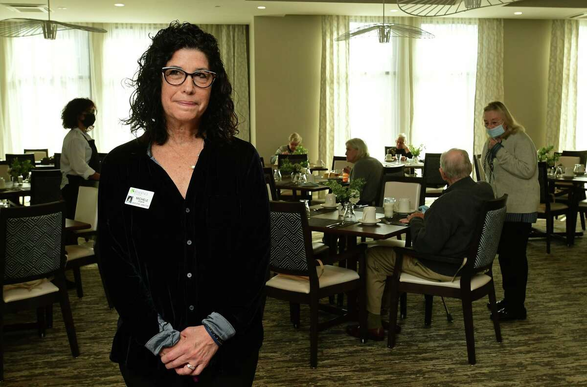 Executive Director of The Residence at Westport, a senior living building that recently opened, Michele Piskin, Tuesday, January 12, 2021, in Westport, Conn.