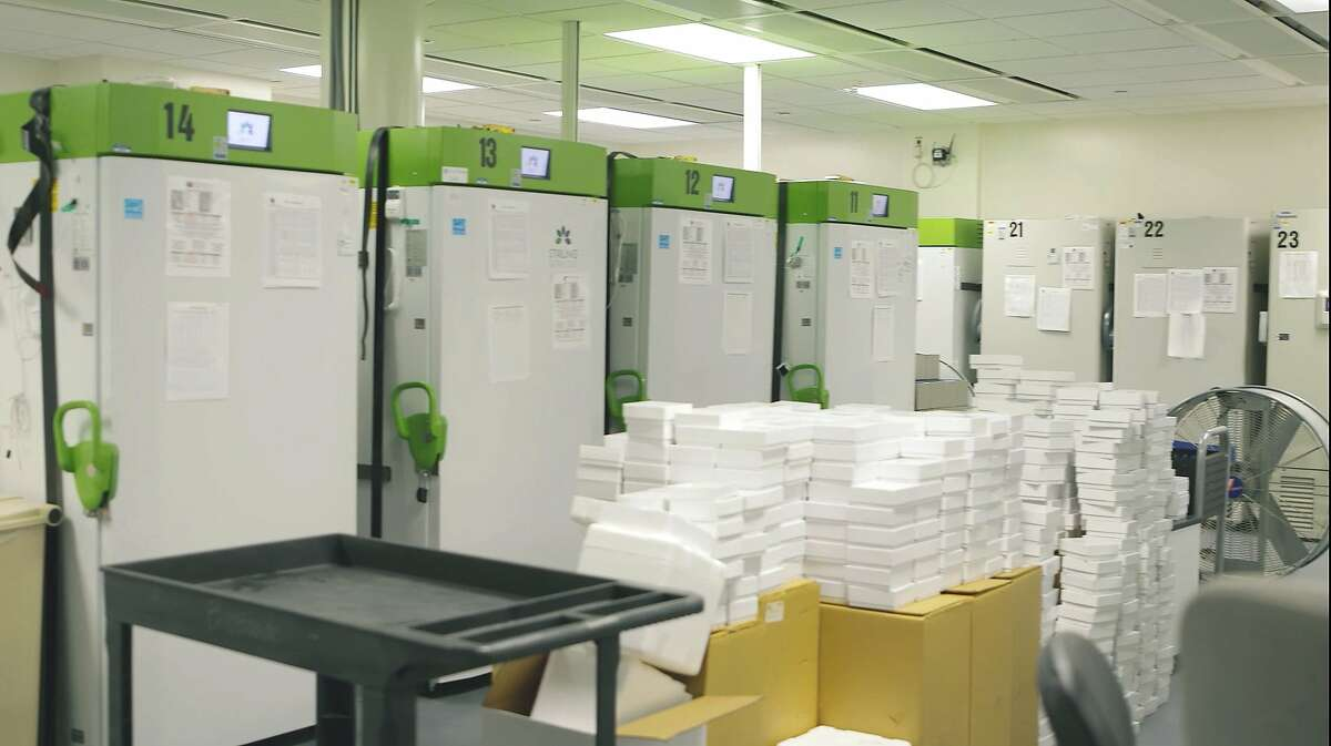 Cedars-Sinai Medical Center in Los Angeles houses COVID-19 vaccines in a super-cold storage.