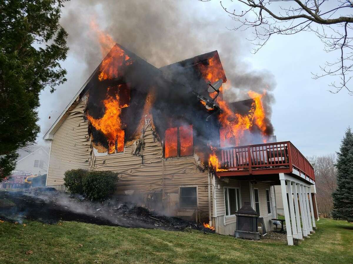 Shelton firefighters responded to a fire at a Waterford Lane home on Thursday, Jan. 14.