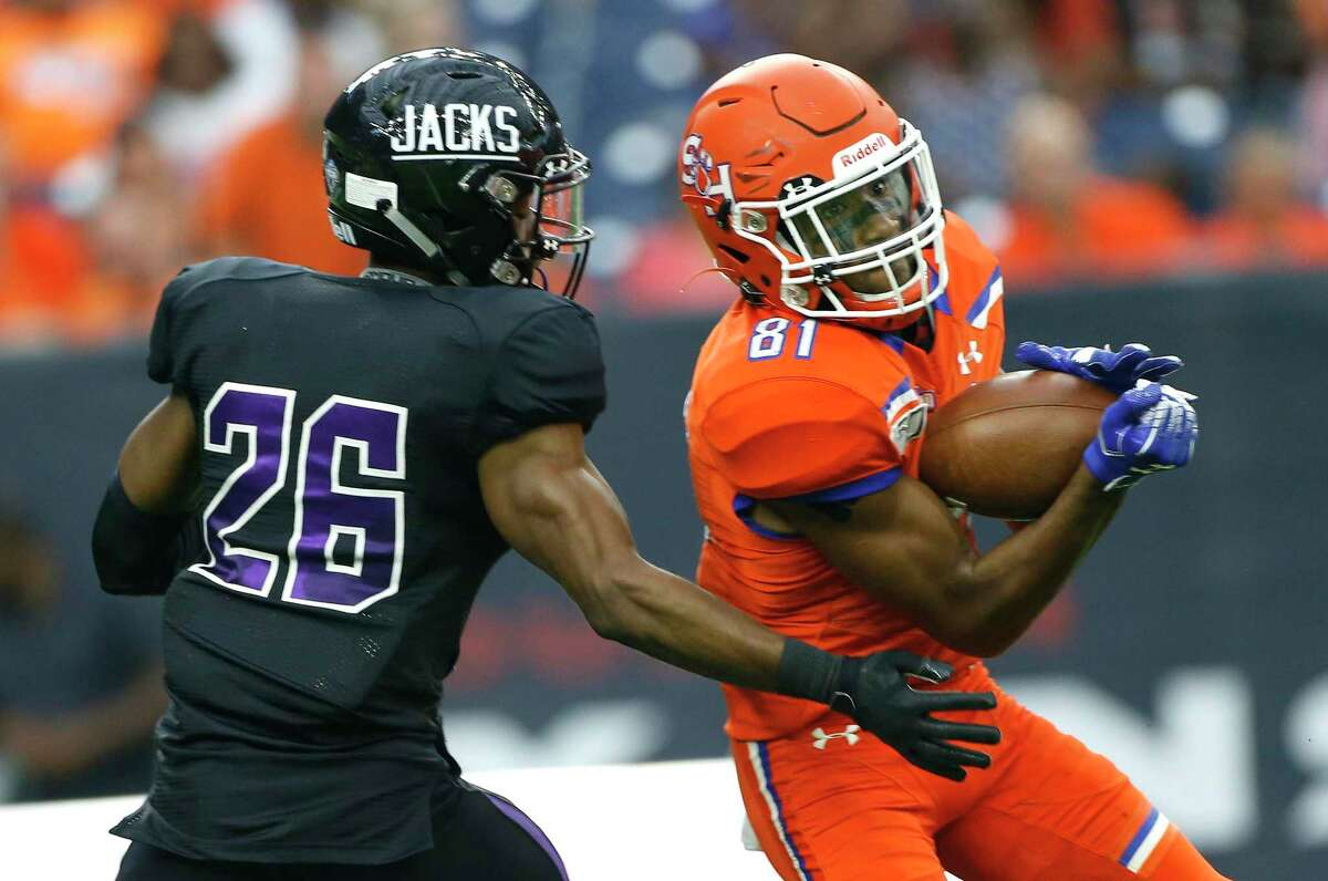 As they leave the Southland Conference for the WAC, Stephen F. Austin and Sam Houston State hope their annual Battle of the Piney Woods will one day be an FBS game.