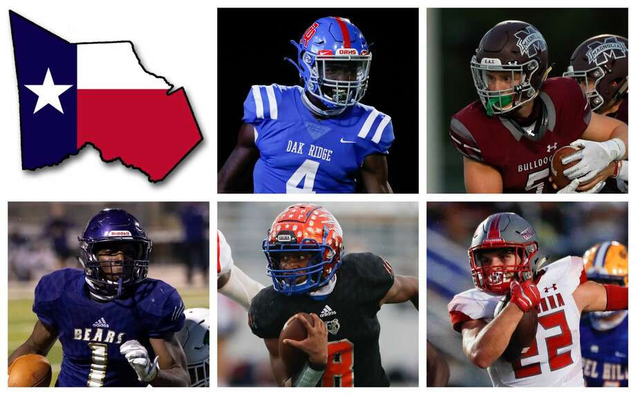 Alton McCaskill, Mitch Hall, Jalen Washinton, Micah Cooper and Zane Obregon are The Courier's nominees for Offensive MVP. Photo: Staff File Photos