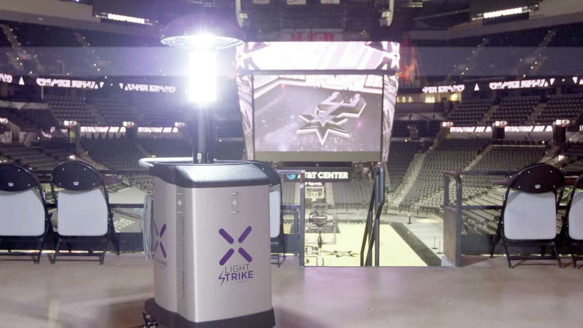Xenex germ-zapping are now helping keep players, fans and staff safe at the AT&T Center.The Spurs are the first NBA team to deploy the technology from the San Antonio- based company.