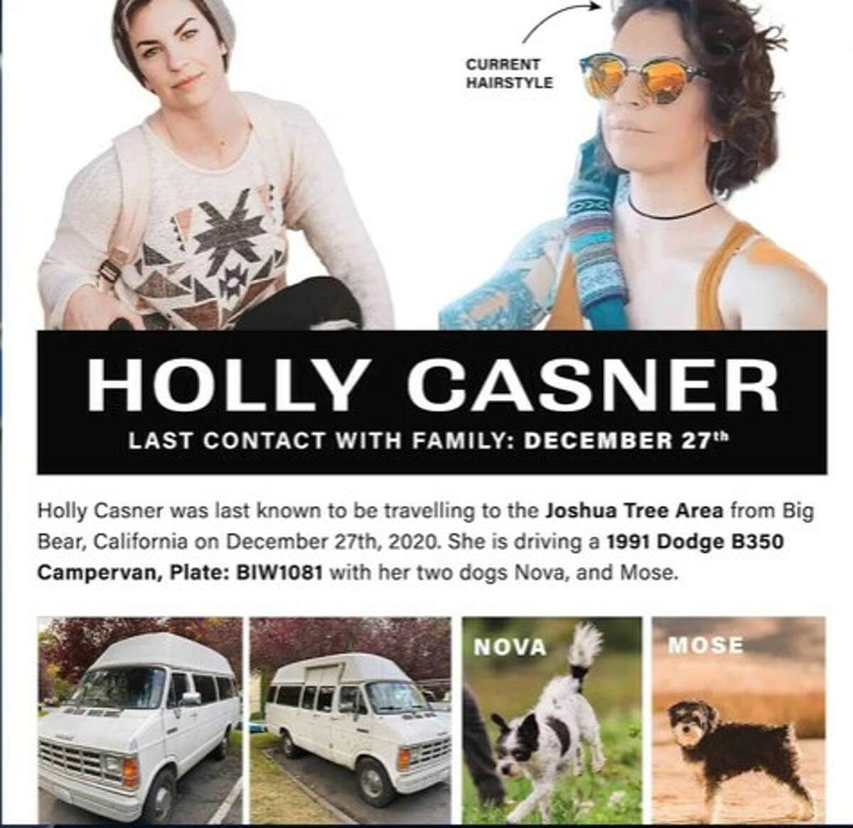 One of the posters created during the search for Holly Casner.