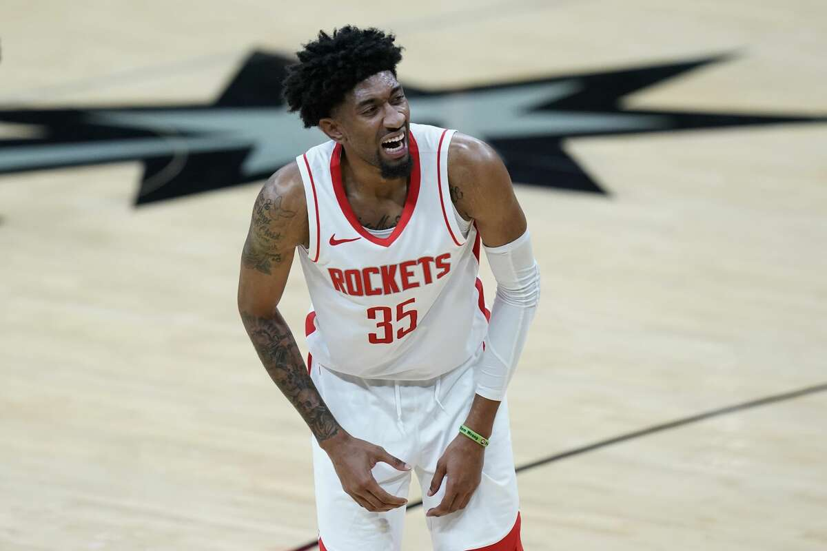 Houston Rockets center Christian Wood (35) had a huge game against the Spurs, scoring 27 points to go along with his career-high 15 rebounds.