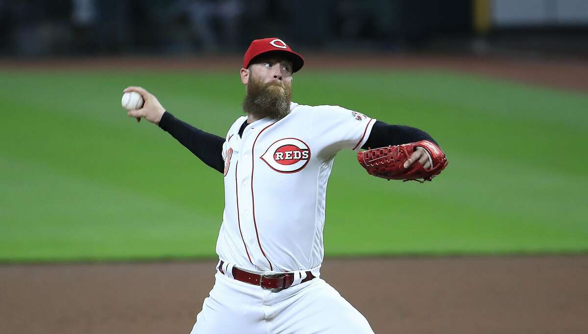 Cincinnati Reds pitcher Archie Bradley throws against the Pittsburgh Pirates at Great American Ball Park in Cincinnati on September 16, 2020. (Andy Lyons/Getty Images/TNS)