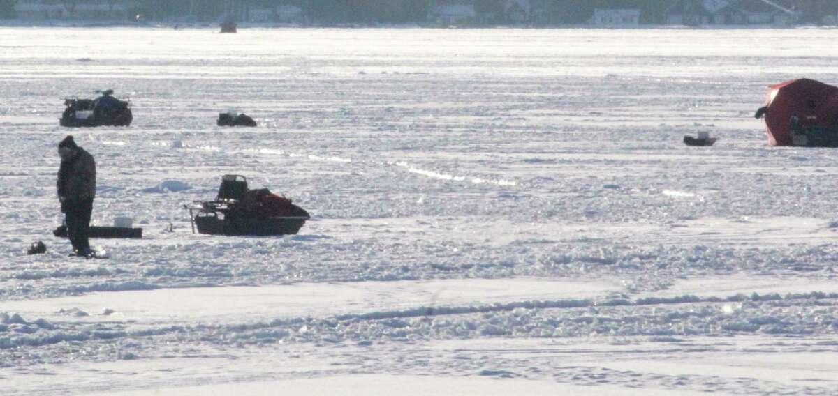 Anglers are keeping an eye on Chippewa Lake for ice fishing. (Pioneer photo/John Raffel)