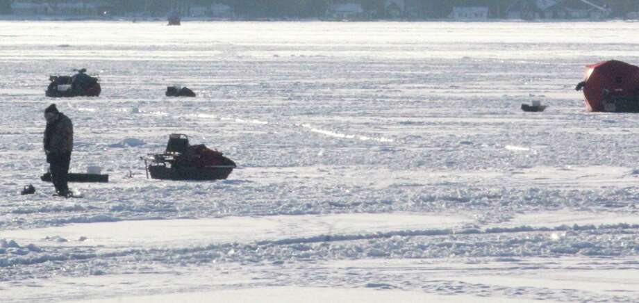 Anglers are keeping an eye on Chippewa Lake for ice fishing. (Pioneer photo/John Raffel)