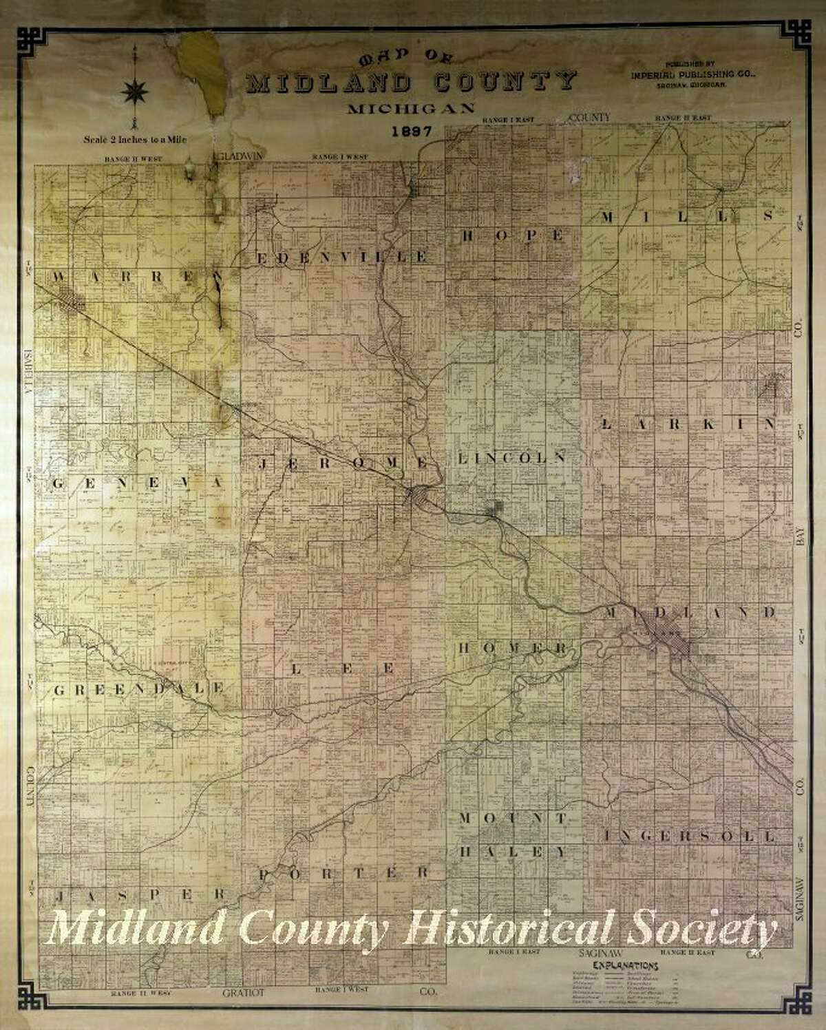 This is a plat map of Midland County from 1897. (Photo Provided)