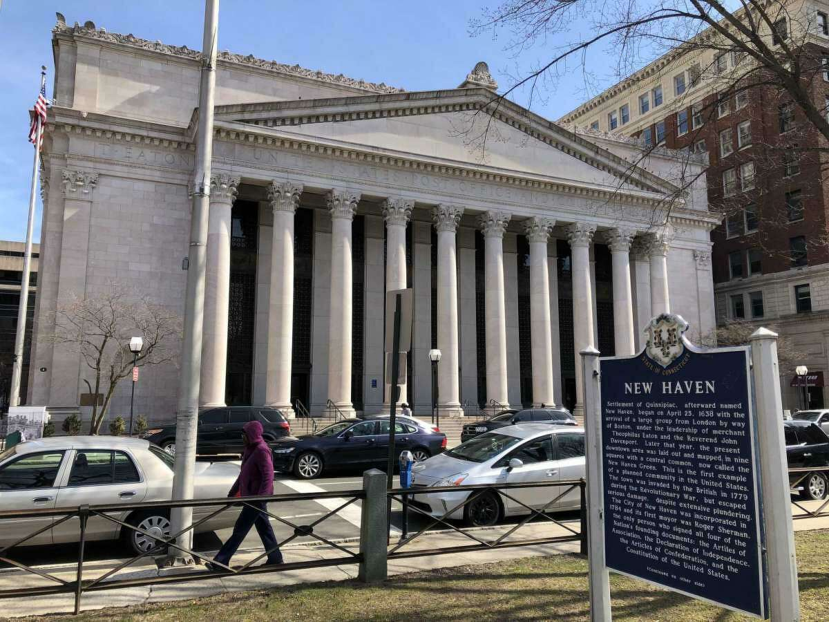A file photo of the U.S. District Court in New Haven, Conn. U.S. District Judge Jeffrey A. Meyer in New Haven sentenced 31-year-old Mike