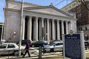 "A file photo of the U.S. District Court in New Haven, Conn. U.S. District Judge Jeffrey A. Meyer in New Haven sentenced 31-year-old Mike ""Mega"" Cruz, also known as Mike Flores, to 60 months in prison, followed by four years of supervised release. The judge also ordered Cruz to pay a $10,000 fine."