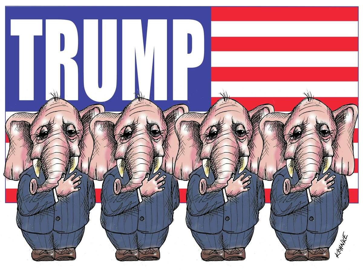 Illustration on Trump enablers