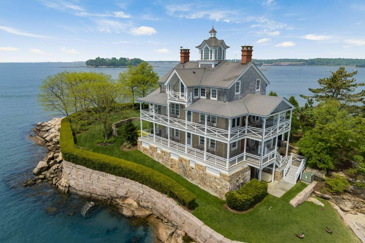Victorian house with 12 rooms and eight bedrooms on Wheeler Island, Branford.