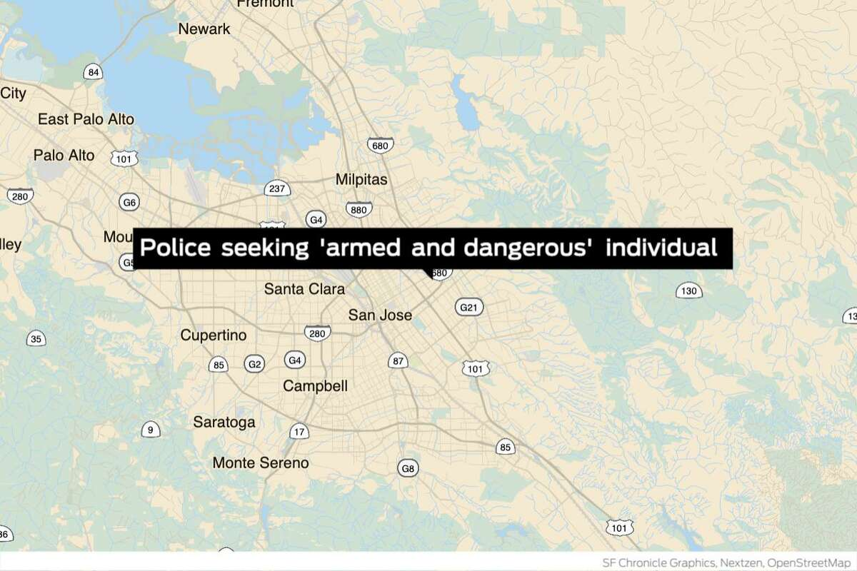 Police in San Jose are asking for residents to shelter in place as they search for an armed and dangerous person suspected of shooting at officers, authorities said Friday.