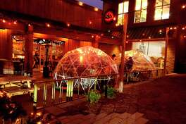 Stormcloud's staff is ready to serve customers if restaurants open for indoor seating on Feb. 1, but continue to use Thunder Domes to help keep visitors distanced from each other and warm while seated outside. (Colin Merry/Record Patriot)