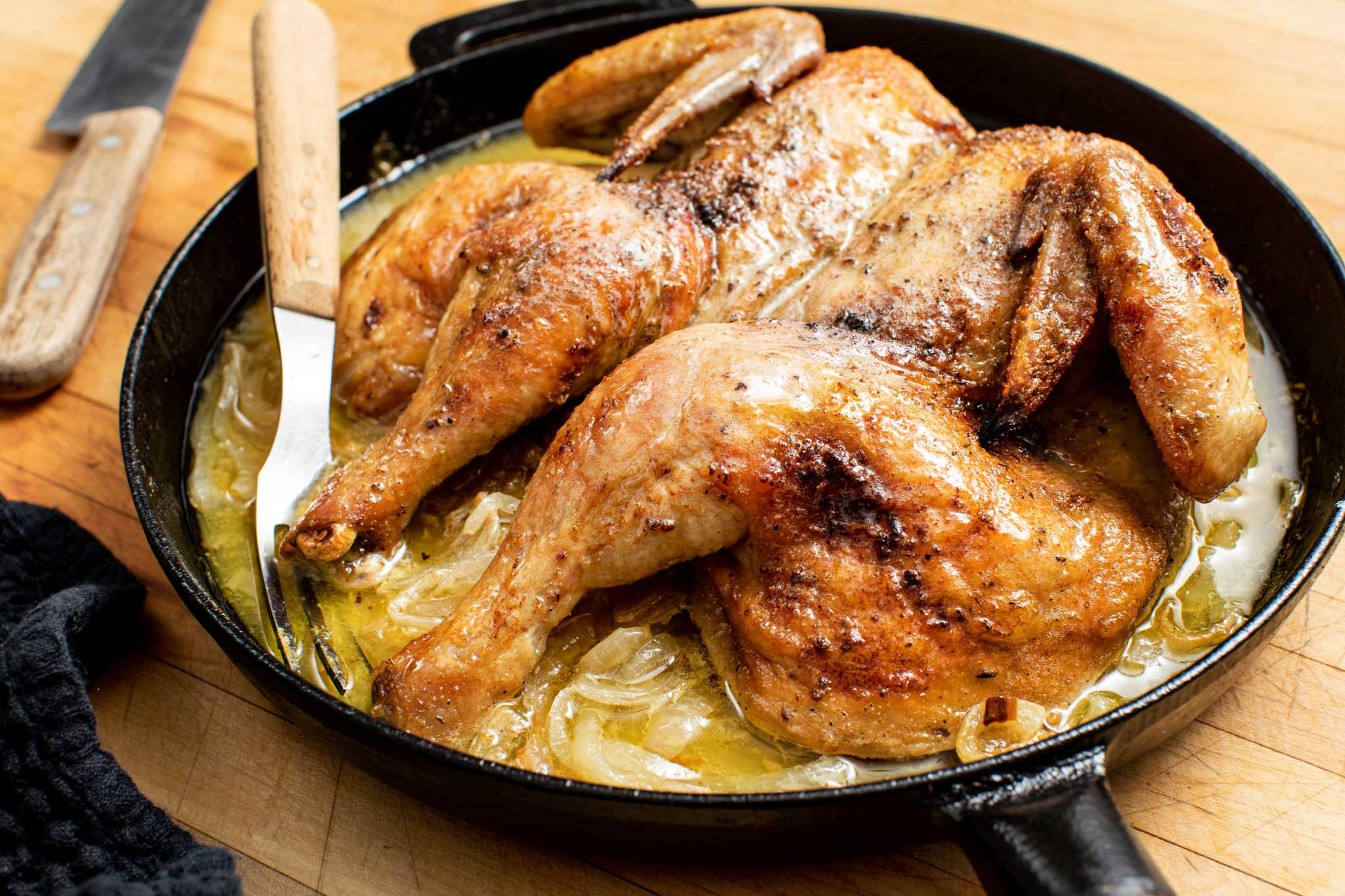 Aromatic roasted chicken with homemade adobo is an updated take on a classic meal