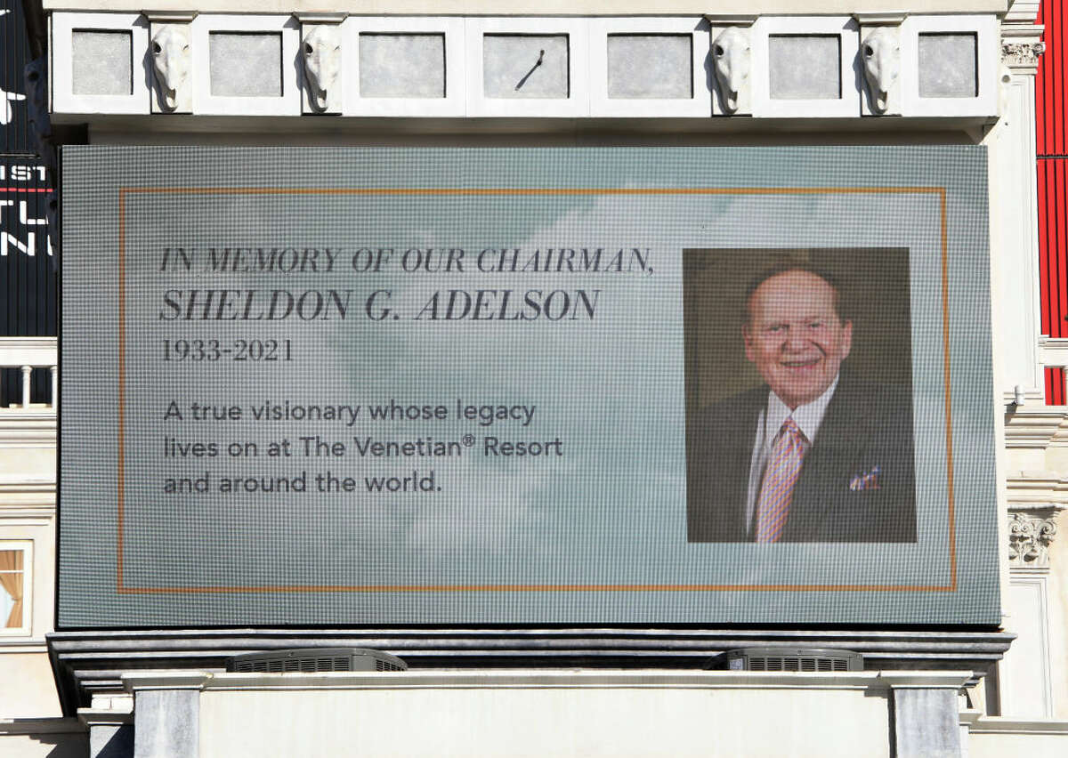 Las Vegas Sands Corp. Chairman and CEO Sheldon Adelson the billionaire casino magnate, who owned The Venetian and The Palazzo Las Vegas, died Jan. 11, 2021t at age 87. (Photo by Ethan Miller/Getty Images)