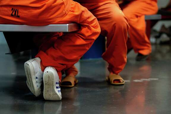 Inmates inside the Harris County Sheriff's Office Detention Facility on Thursday, Jan. 14, 2021, in Houston.