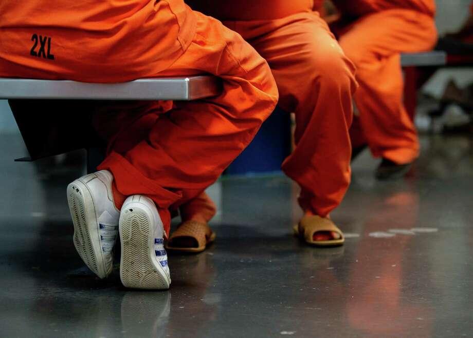 Inmates inside the Harris County Sheriff's Office Detention Facility on Thursday, Jan. 14, 2021, in Houston. Photo: Godofredo A. Vásquez, Houston Chronicle / Staff Photographer / © 2021 Houston Chronicle