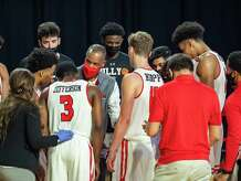 The Lamar Cardinals men's basketball team hosted the Southern Mississippi Golden Eagles at the Montagne Center Tuesday night. Photo made on December 15, 2020. Fran Ruchalski/The Enterprise