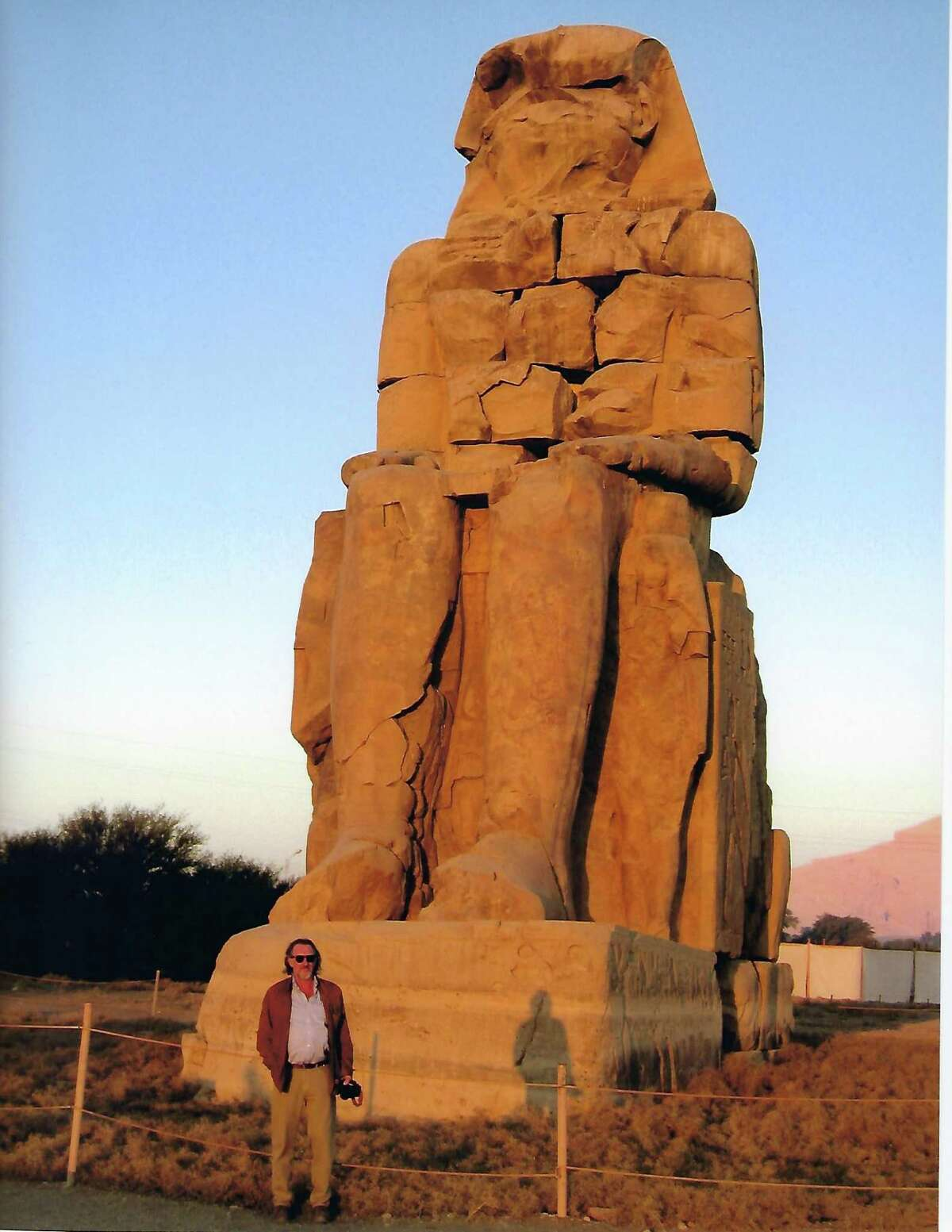Art historian and lecturer David Brauer photographed in Egypt in 2006.