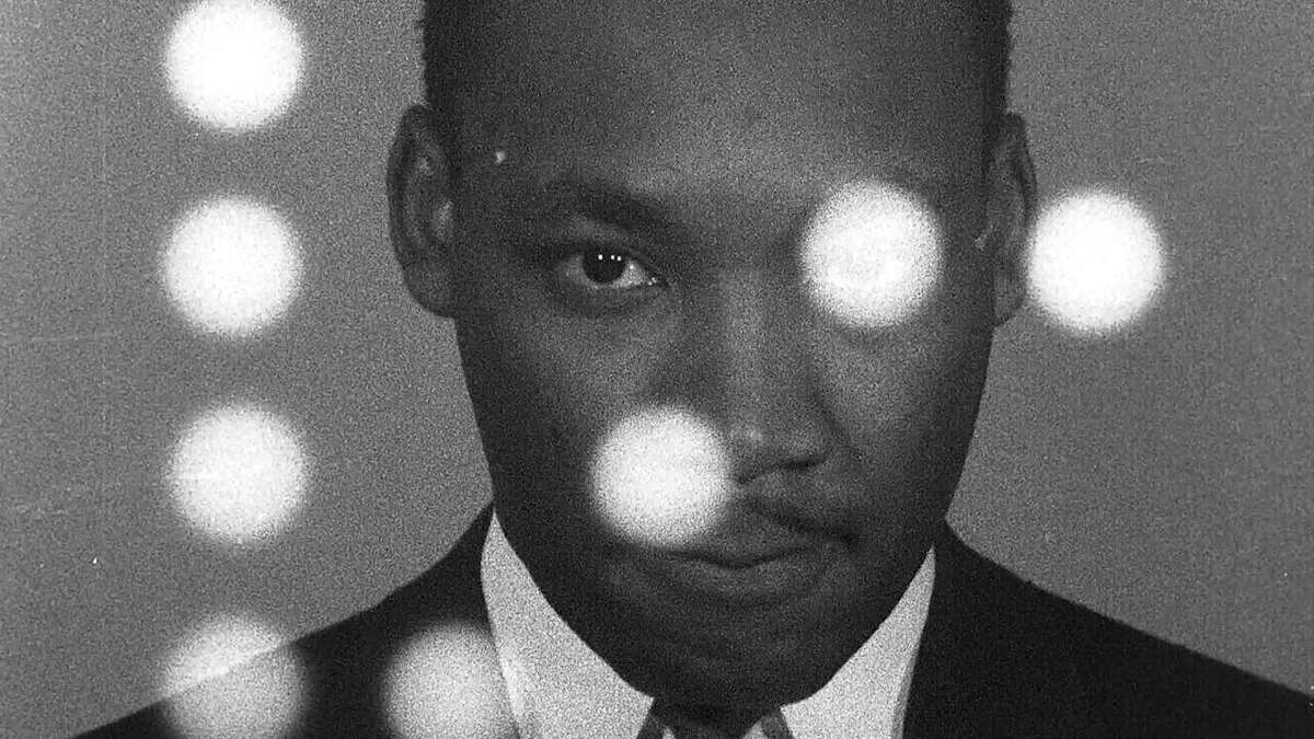 A still of Dr. Martin Luther King Jr. from the documentary