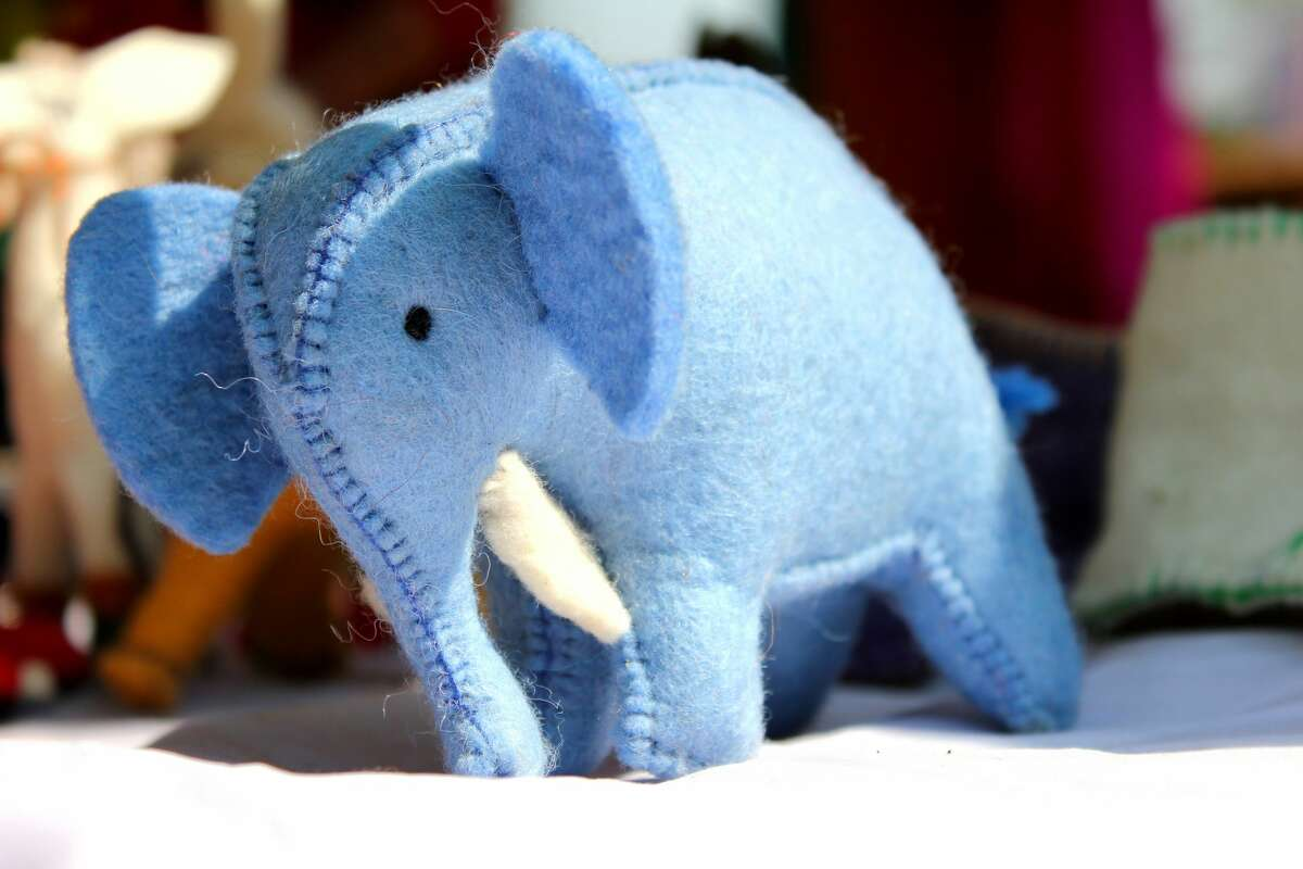 The internet's helping a woman reunite with a stuffed elephant she lost at San Francisco International Airport. (The one pictured is close, but not it.)