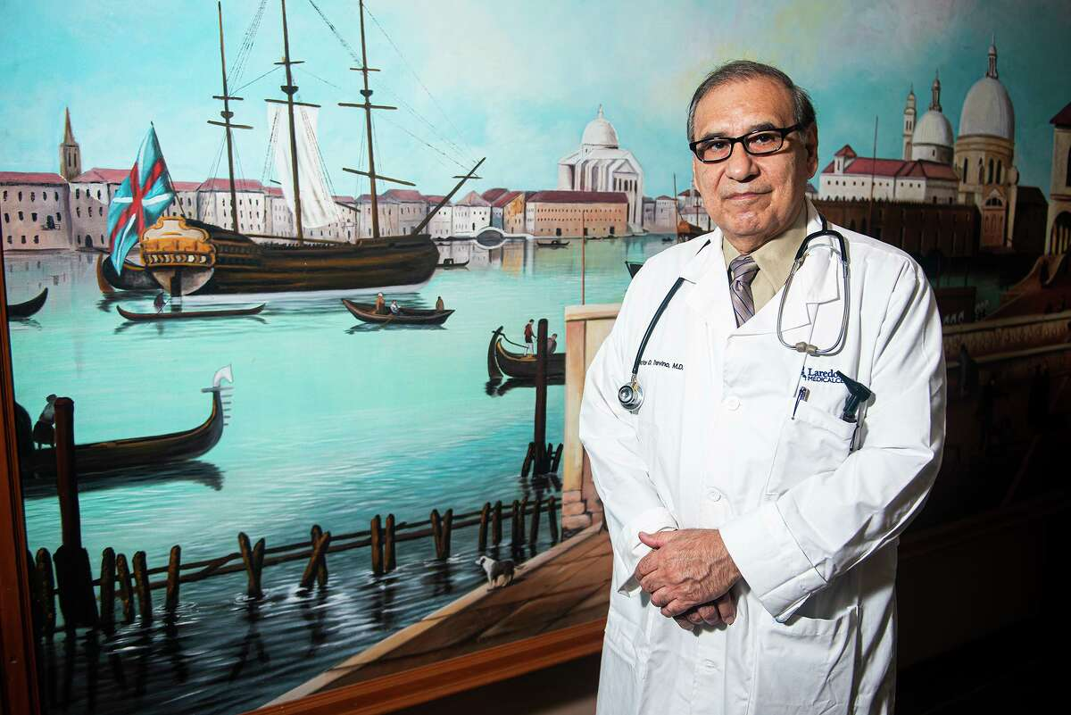 Dr. Victor D. Treviño poses for a photo as his office, Wednesday, Jan. 6, 2021, in Laredo, Tx.