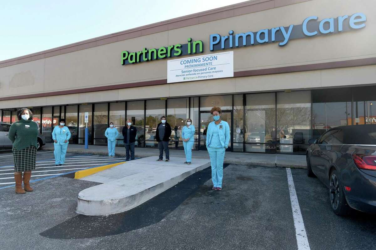 The team at Partners in Primary Care, a senior focused healthcare facility that opened in Beaumont late December, pose outside the office. Photo taken Tuesday, January 12, 2021 Kim Brent/The Enterprise