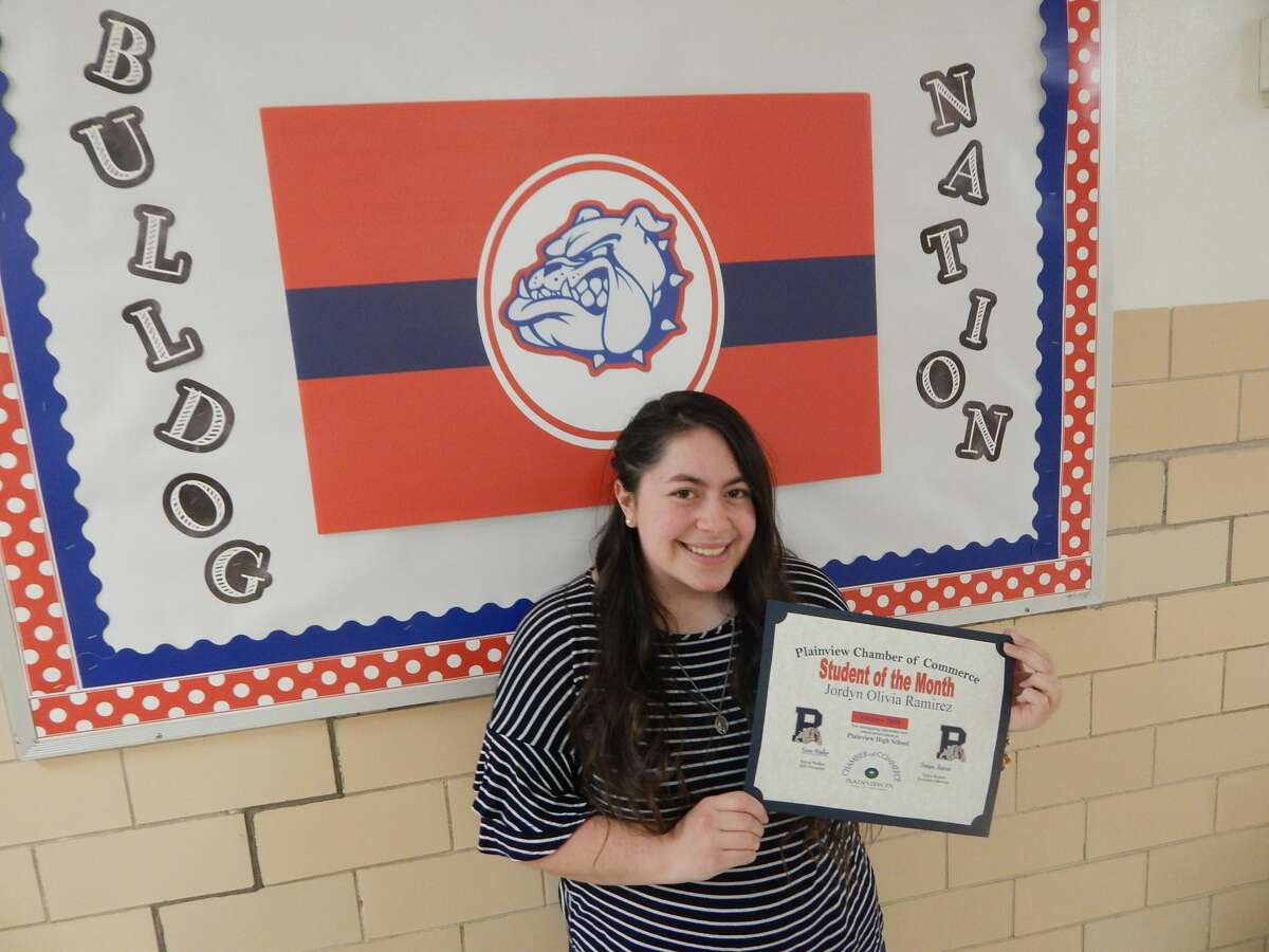 Jordyn Ramirez, a 17-year-old Plainview High School senior, was named the Plainview Chamber of Commerce's first Student of the Month of 2021.