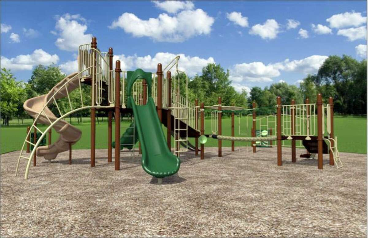 A rendering of the new playground design slected for Redding Elementary School.