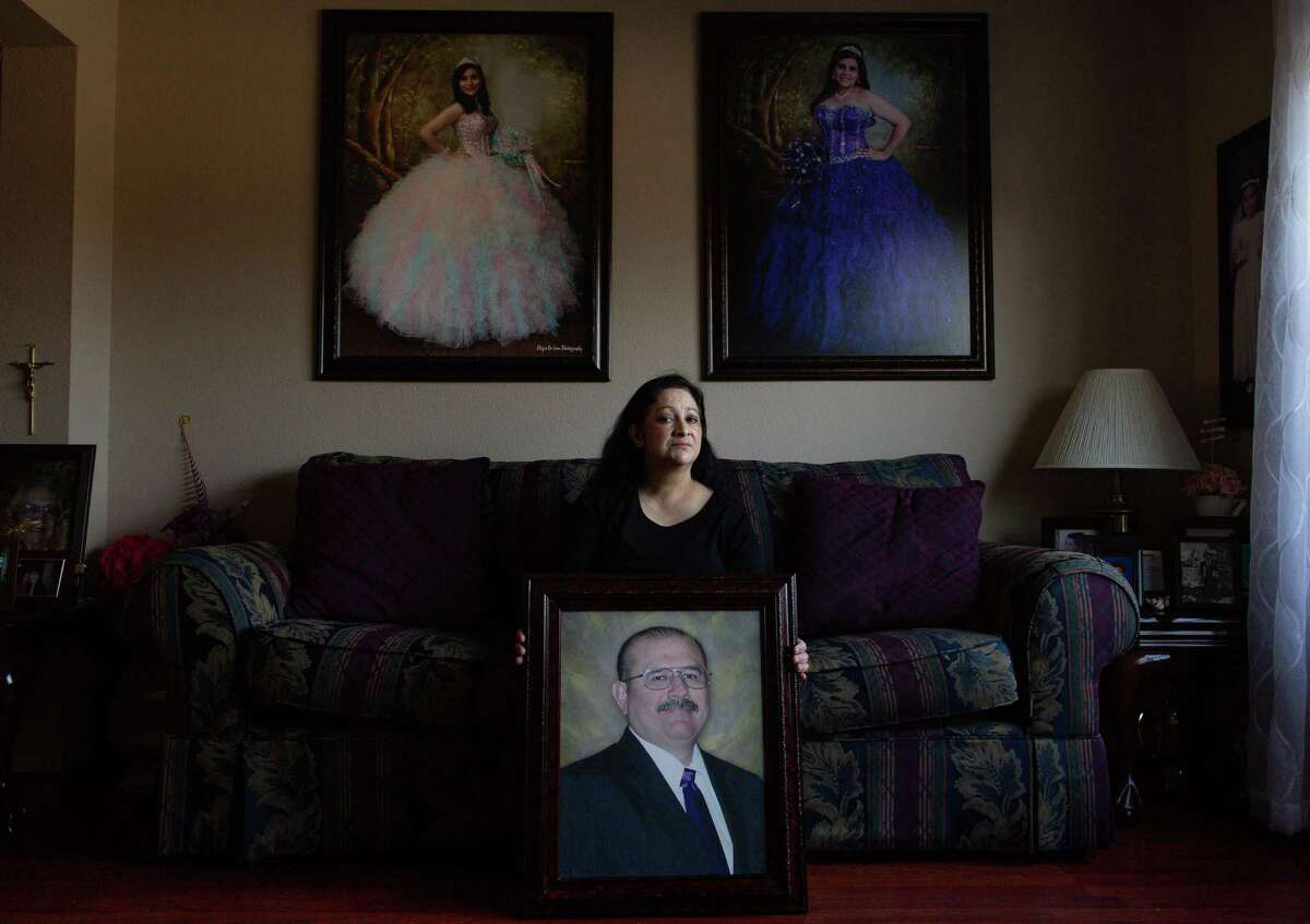 Maria Ortiz's husband, Erick Ortiz, died of COVID-19 in early December. His family worries he contracted it at HISD's Milby High School, where he taught.