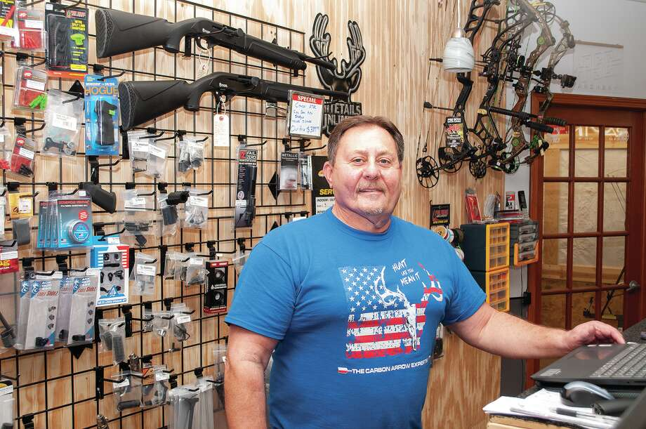 Scott Hungerford, owner of Scott's Gunworks, said requests for services and gun and ammo sales have increased at his business during the past few months. Photo: Darren Iozia | Journal-Courier / Jacksonville Journal-Courier