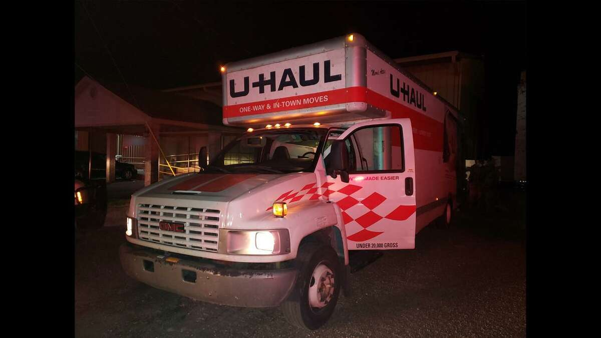 This is the U-Haul where U.S. Border Patrol agents discovered 114 immigrants in the cargo area.