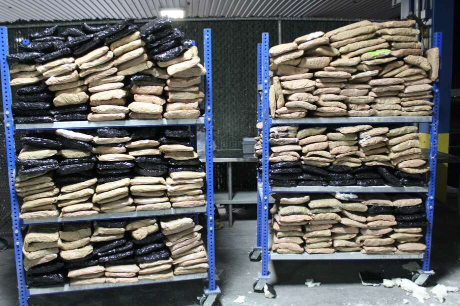 U.S. Border Patrol agents said they seized these 709 pounds of marijuana at the World Trade Bridge. The contraband was valued at more than $141,000. Photo: Courtesy Photo /U.S. Customs And Border Protection
