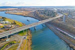 I-5 bridge over the Snohomish River in Everett, Wash.