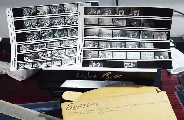 Bob Collister was a photographer in New York in the 1960s. His son, Brian, recently discovered many of his father's photos and negatives, which include pictures of the Beatles' concert at Shea Stadium in 1966. These are his contact sheets.