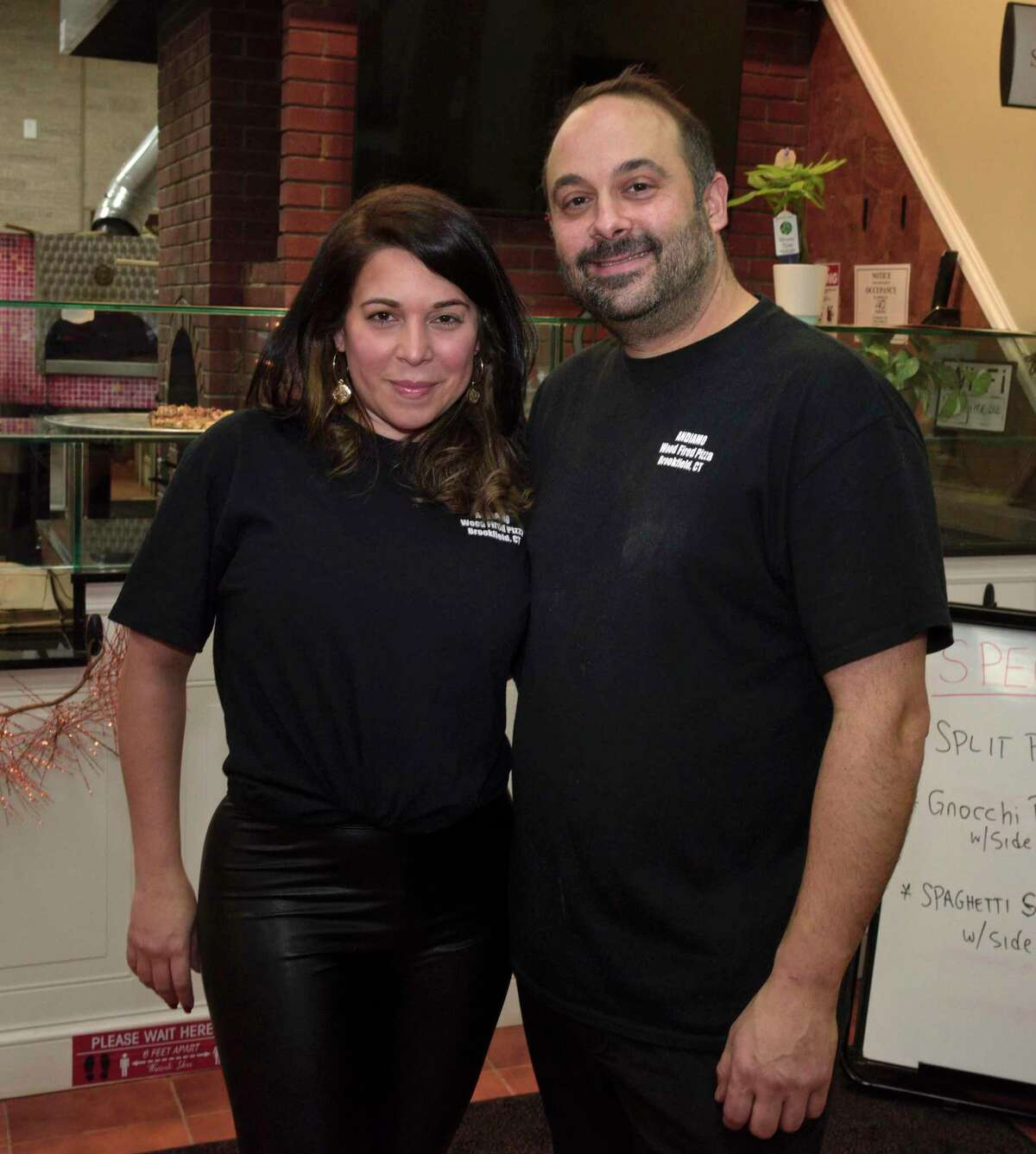 Ana and Franco DeRose have opened Andiamo Wood-Fired Pizza in Candlewood Lake Plaza in Brookfield, Conn. Friday January 15, 2021.