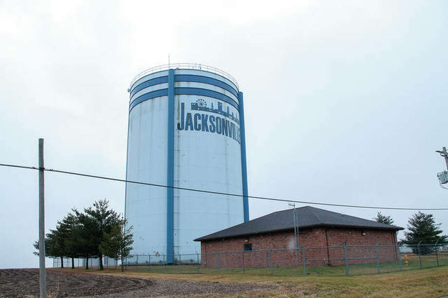 Jacksonville's Massey View Road water tower will be shut down in mid-September for routine paint and repair work. Both the interior and exterior will get new paint and the city's most recent logo will replace the one now there. Photo: Darren Iozia | Journal-Courier