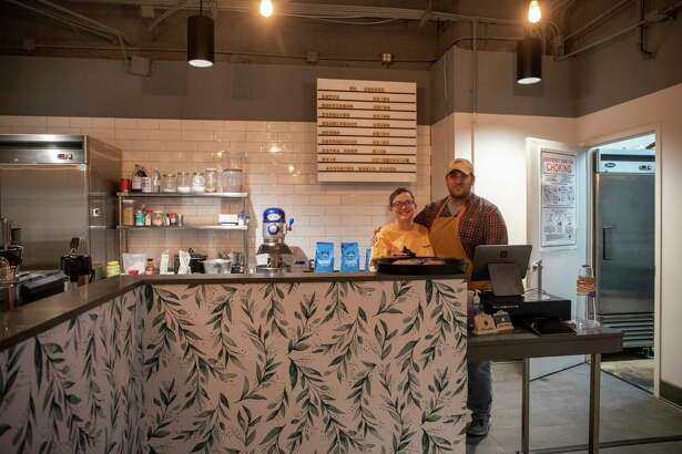 Crystal, left, and Joshua Foley pose in FC Coffee on Friday, Jan. 15, 2021 at 306 W. Wall St. Jacy Lewis/Reporter-Telegram