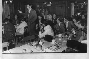 East Greenbush, New York - discussion of vandalism - Justice of the Peace Pat Manney. November 19, 1971 (Times Union Archive)