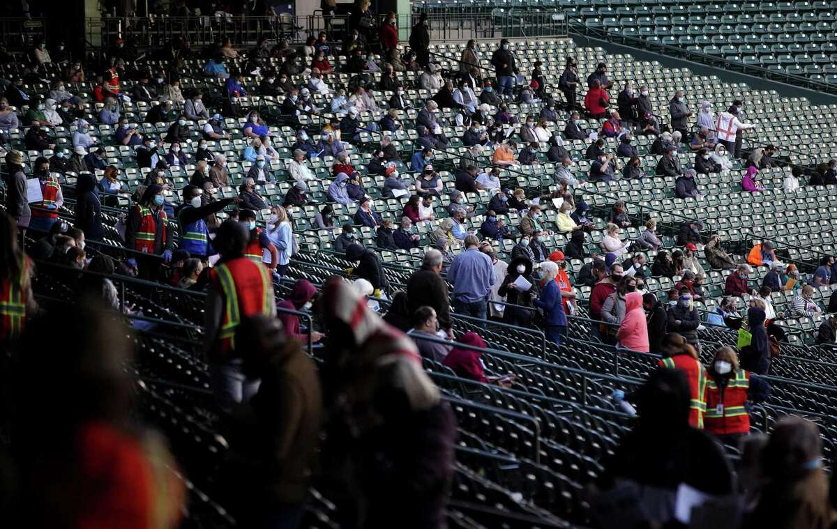 Minute Maid Park has served as a mass COVID-19 vaccination site earlier this year.