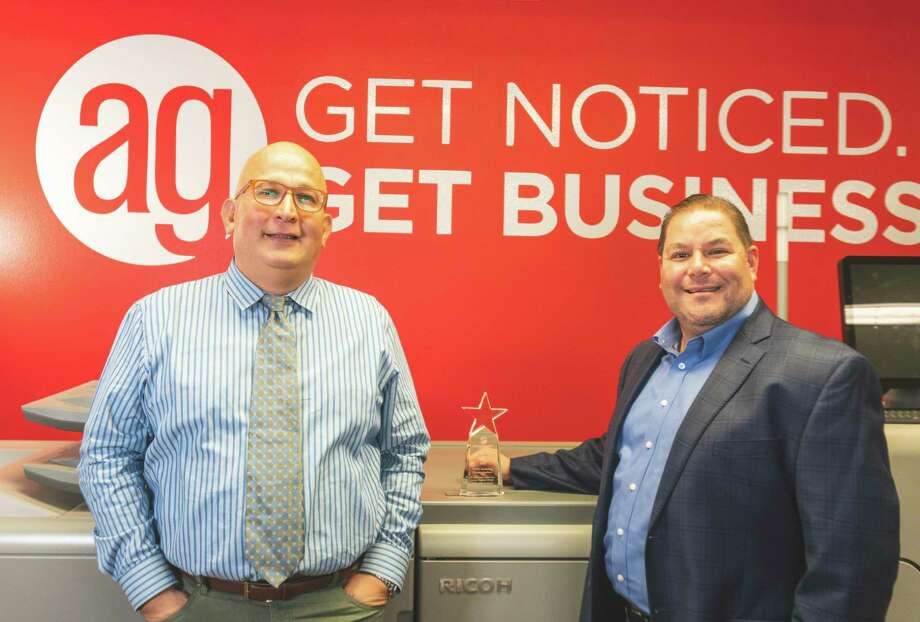 AlphaGraphics Co-Owners Paco Barrientos and A.B. Barrera Photo: Courtesy /