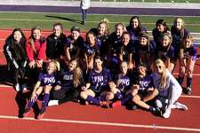 The Port Neches-Groves girls soccer team after their 4-0 win over Little Cypress-Mauriceville on Saturday, Jan. 16, 2021 in Port Neches, TX.