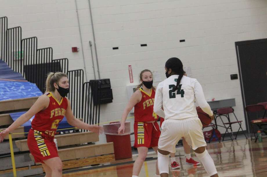 Ferris State's women's basketball team had a big second half to post a 91-89 win over Wisconsin-Parkside on Saturday. Photo: John Raffel